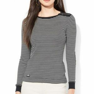 Ralph Lauren Long Sleeve Tee with elbow patches